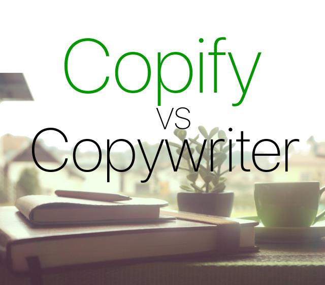 Copywriter vs Copify